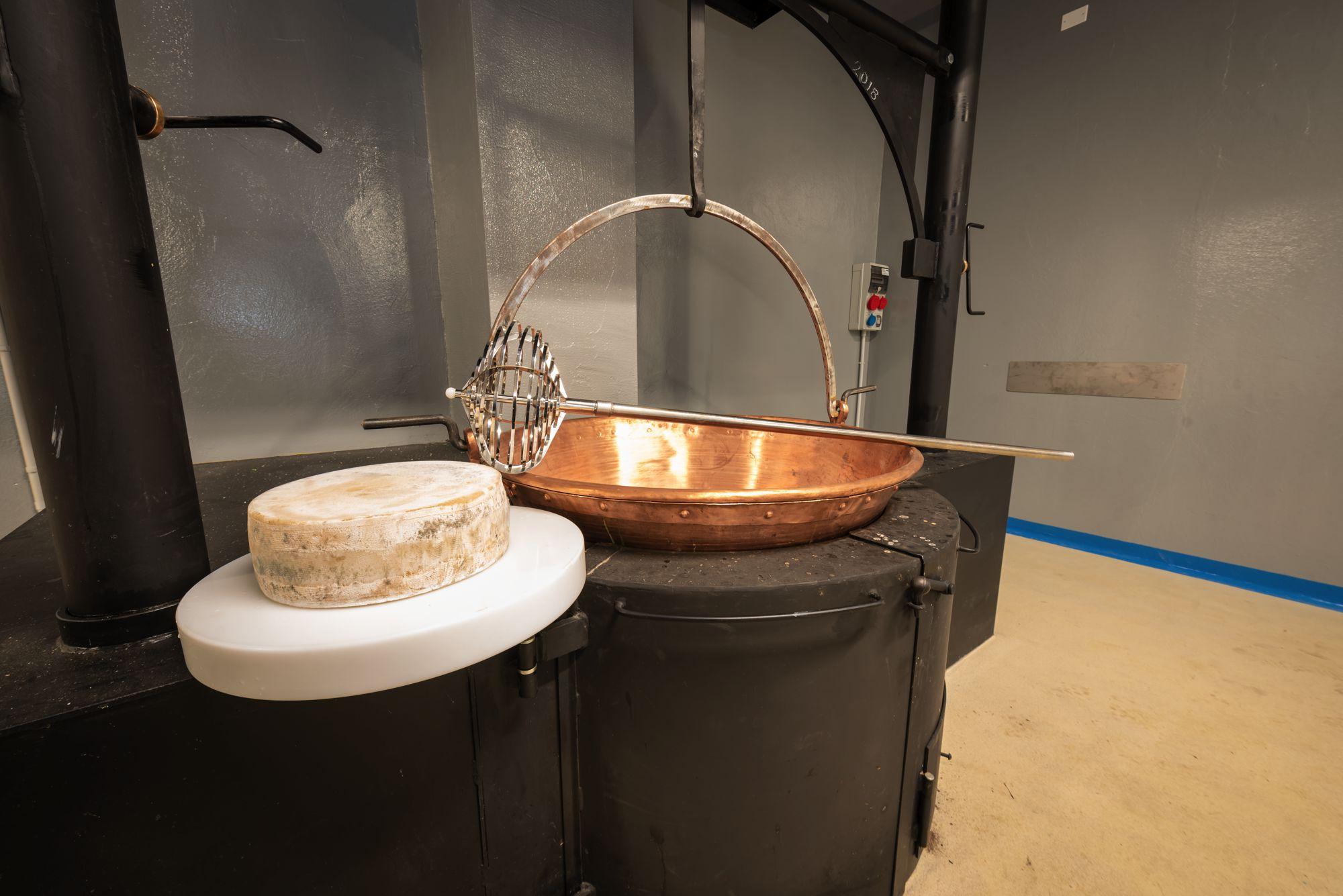 Focolare in acciaio per la lavorazione del latte Amistadi